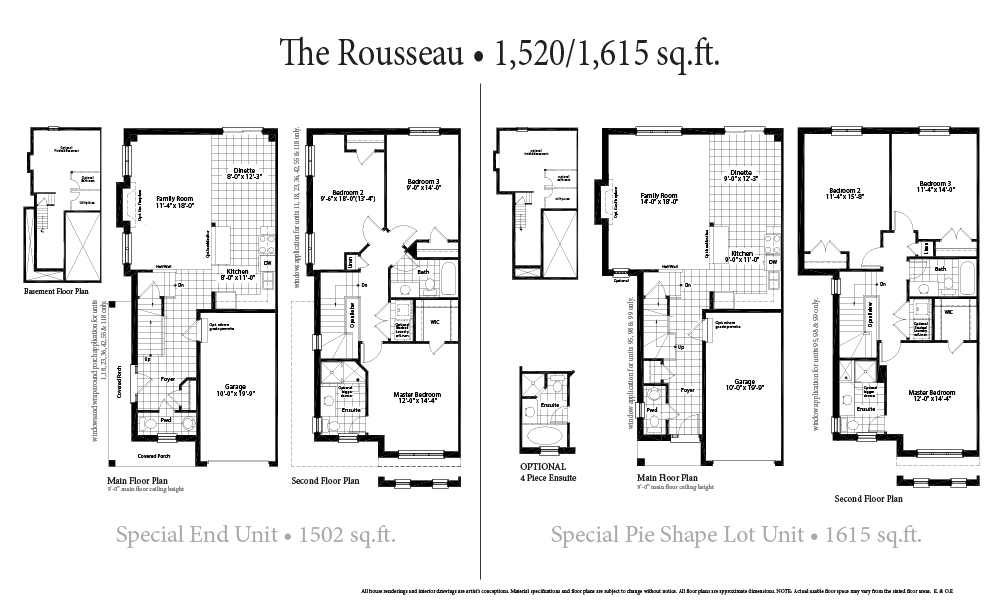 The Rousseau Second Floor Special Units